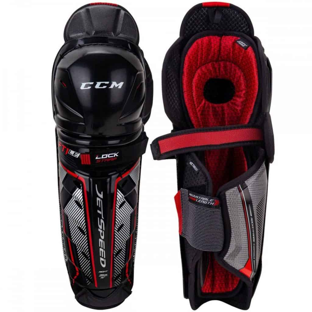 CCM hockey shin guards