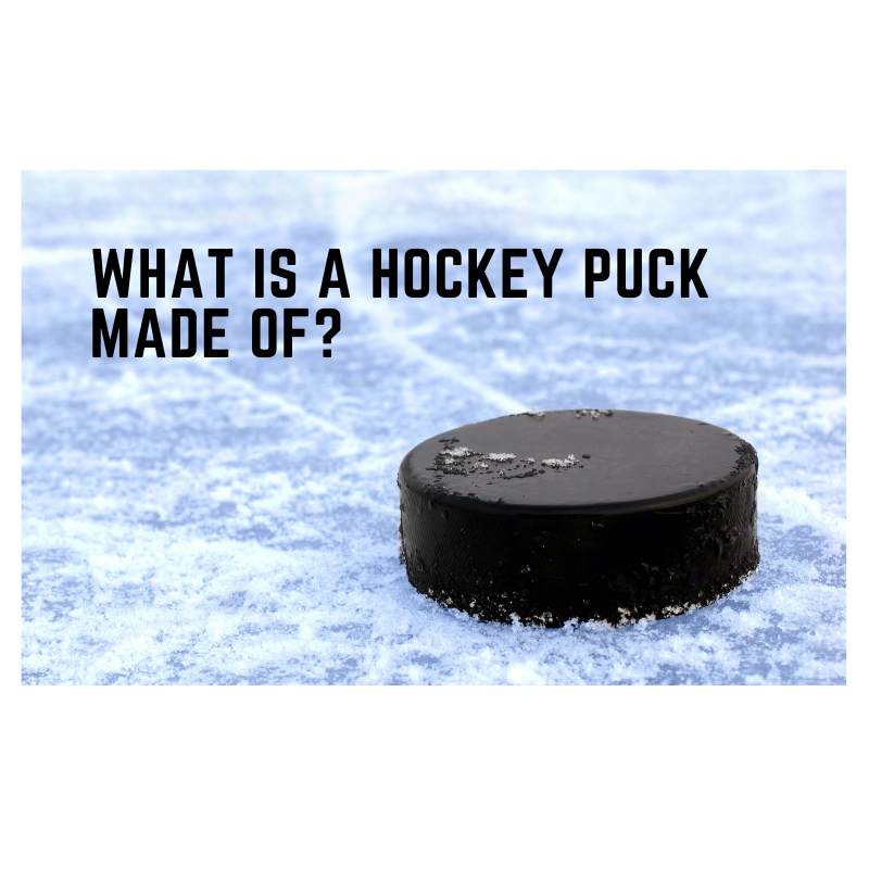 What is a hockey puck made of