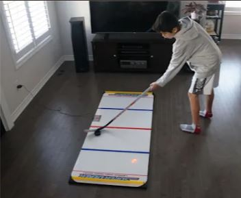 Image of player using SuperDeker Hockey Training System